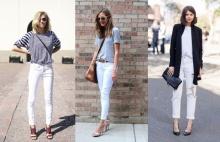 10 ไอเดีย กางเกงยีนส์สีขาวเรียบง่าย..แต่ไม่ธรรมดา