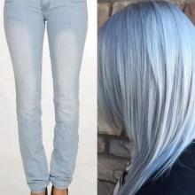 Denim Hair ผมสียีนส์ เทรนด์สีผมใหม่ที่คุณต้องลอง!