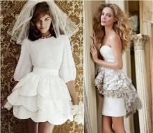 10 ไอเดียชุดแต่งงานแบบกระโปรงสั้น